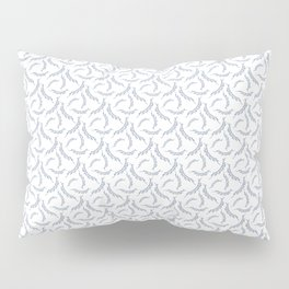 Celebration Party Time Bunting Pattern White & Blue Pillow Sham