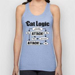 Cat Logic: Attack! Unisex Tank Top