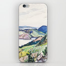 Franklin Carmichael - Lake La Cloche Region - Canada, Canadian Watercolor Painting - Group of Seven iPhone Skin