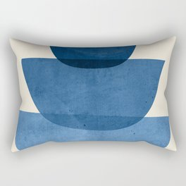 Abstract Shapes 37-Blue Rectangular Pillow