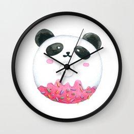 Panda Donut Art Work Wall Clock