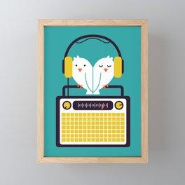 Radio Mode Love Framed Mini Art Print