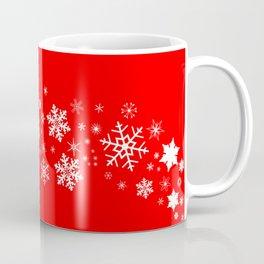 Red Christmas Snowflake  Banner Coffee Mug