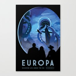NASA Retro Space Travel Poster #4 - Europa Canvas Print