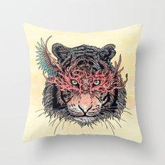 Masked Tiger Throw Pillow