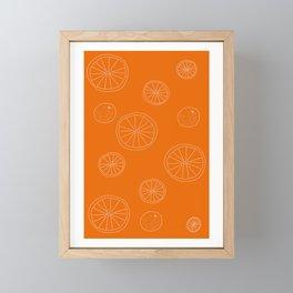 Oranges Framed Mini Art Print