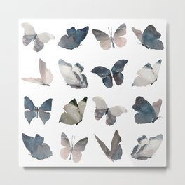 Butterfly Pattern Metal Print