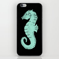 sea horse iPhone & iPod Skins featuring SEA HORSE by Matthew Taylor Wilson