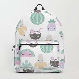 Kawaii breeze summer water melon and coconut fruit cocktail Backpack