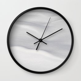 Undulating Snow 2 Wall Clock