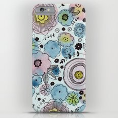 Blue and purple flowers Slim Case iPhone 6s Plus