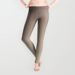Gradient  beige, brown. Leggings