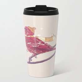 Winter Finch Metal Travel Mug