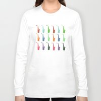 saxophone Long Sleeve T-shirts featuring Saxophone by Fabian Bross
