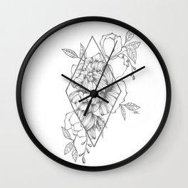 Peony Diamond Wall Clock