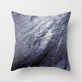 Ice age, silver Throw Pillow