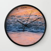 north carolina Wall Clocks featuring North Carolina by Patricia McNickle