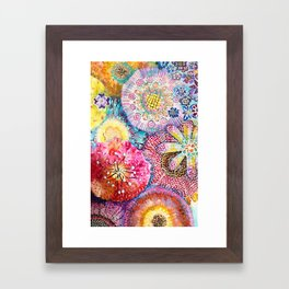 Flowered Table Framed Art Print