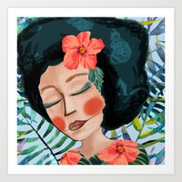 Art Print featuring Jardin exotique by Soloka