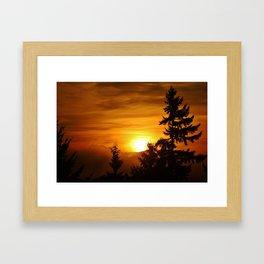 Bellevue Washington Sunrise Framed Art Print