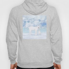 polar bears in the snow Hoody