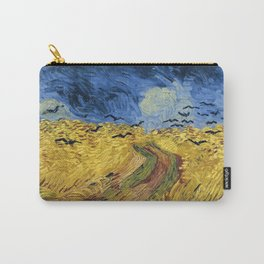 Wheatfield with Crows by Vincent van Gogh Carry-All Pouch