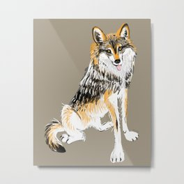 Mexican Wolf #1 Metal Print
