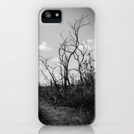Black and White Burnscape pt. 2 iPhone Case