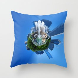 Little Planet of Chicago Throw Pillow