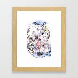 Jardin des délices Framed Art Print