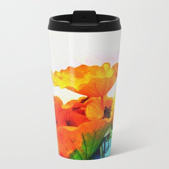 Enchanted Lotus Leaves Metal Travel Mug