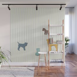 Going To The Dogs Plaid Terriers Wall Mural