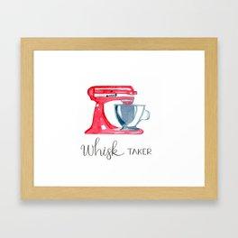 Red Stand Mixer - kitchen art, baker Framed Art Print