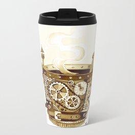 Steampunk Coffee Mug Metal Travel Mug