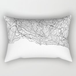 Lausanne Map White Rectangular Pillow