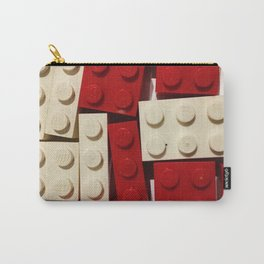 Red and White Legos Carry-All Pouch
