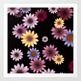 Multicolored natural flowers 14 Art Print