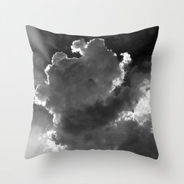 Clouds over Lake Constance Throw Pillow