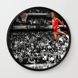 Infamous Jumpman Free Throw Line Dunk Poster Wall Art, Michael Jor-dan Poster Wall Clock
