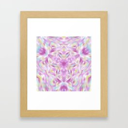 Joy of Abundance Digital kaleidoscope Art  Framed Art Print