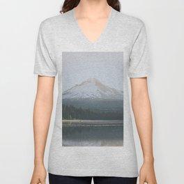 Trillium Lake Sunrise - Nature Photography Unisex V-Neck