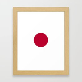 Classic Civil and state flag and ensign of Japan Framed Art Print