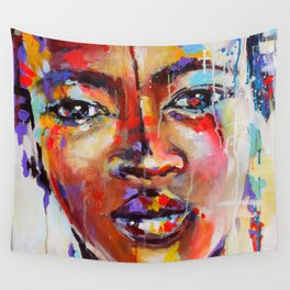 Closer - portrait of a beautiful woman Wall Tapestry