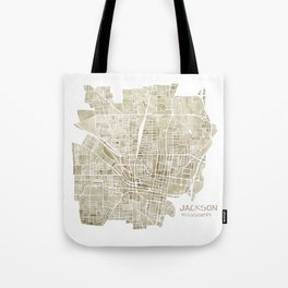 Jackson Mississippi watercolor city map Tote Bag