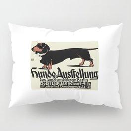 1905 German Dog Show Dachshund Poster Pillow Sham