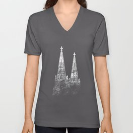 Cologne Cathedral Vintage Köln Fan Skyline Carnival Cologne Unisex V-Neck