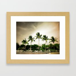 Palms by the Pool Framed Art Print
