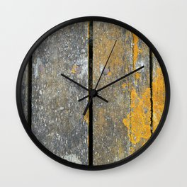 Ocean Weathered Wood With Lichen Wall Clock