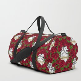 Heart and Roses Duffle Bag