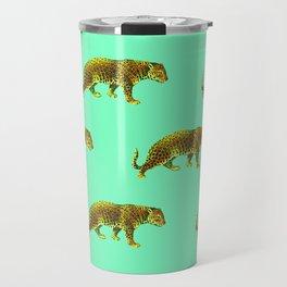Vintage Cheetahs in Mint Travel Mug